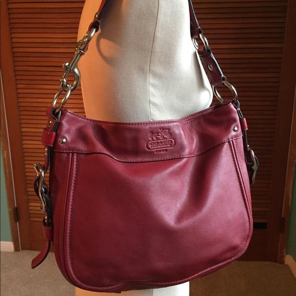 108ca1cdfa04 Coach Handbags - Valentines Red Coach Leather Zoe medium bag